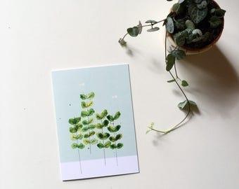 Plants greeting card garden notecard