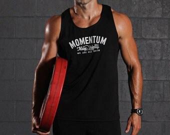 Men's T-shirt Sale - Mens black tanktop- Men's clothing - Mens athletic black tank top - Black sleeveless tank for men - Gym clothes for men