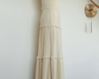 Flapper Style Wedding Dress Simple Handmade
