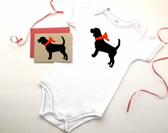Beagle Baby Bodysuit Organic Infant Clothes % to ANIMAL RESCUE Clothing Eco Friendly Jumper Romper Snapsuit One Piece Gift 3-6 mo 9-12 mo