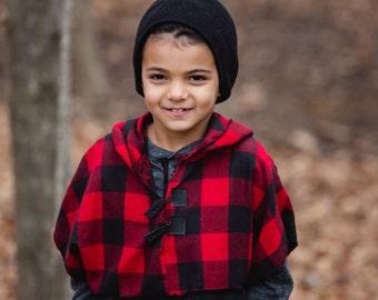 Boy clothes-Spring Boy-Boy Hoodie-trendy boy-Boy plaid-hipster boy clothes-pullover-plaid shirt-plaid pullover-poncho-plaid poncho