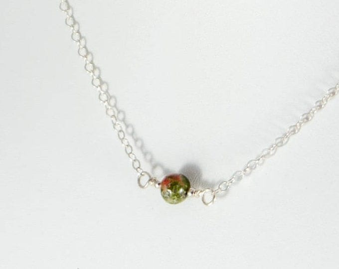 L'amour Necklace - Unakite