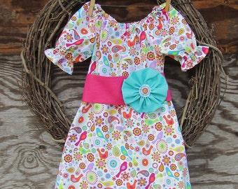Girls Dress, Girls Summer Dress, Girls Pink Dress, Kids Pink Dress, Spring Dress