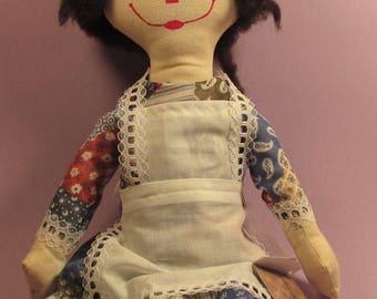 Raggedy Annie Art Doll