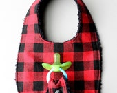 Baby Boy Binky Bib in Red...