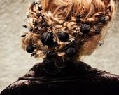 womens gift - yarn ball hair pin set - hair pin set - bohemian headpiece - romantic hair accessory