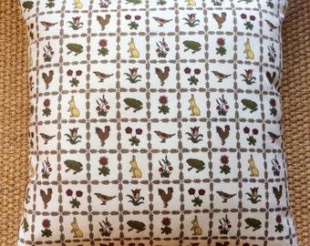 Vintage Liberty Of London Voysey Fabric Cushion With Interior 40cm x 40cm