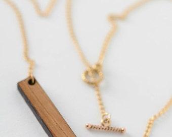 Monogrammed Bourbon Whiskey Barrel Necklace