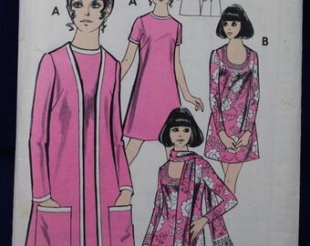 1970's Sewing Pattern for Women's Dress & Coat in Size 14 - Woman MP1