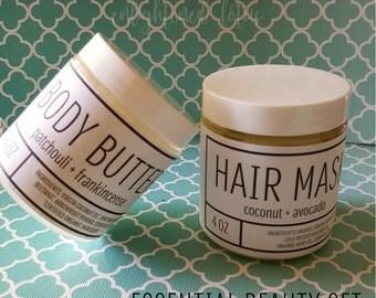 Essential Beauty Gift Set, Organic Spa Gift Set
