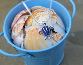 Sterling silver jewelry, Sea turtle jewelry, Sea turtle pendants, Sterling silver charm, Sea turtle necklace, Sterling silver necklace.
