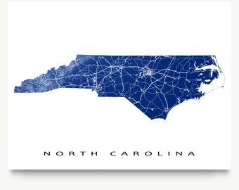 Wide North Carolina Metal Map Wall Art Choose Your - Usa map north carolina