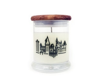 Hogwarts - Butterbeer - Book Candle - Bookish Candle - Book Lover Gift - Scented Soy Candle - 12oz Jar