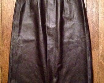 High waisted leather