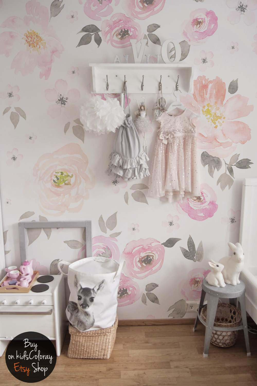 vintage floral wallpaper removable wall mural vintage zoom