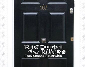 Front Door Decal, Dog Door Decal, Beware of Dog Decal, Dog Owner Decal, Dog Lover Gift, New Home Decor, Front Door Greeting, Pet Owner Gift
