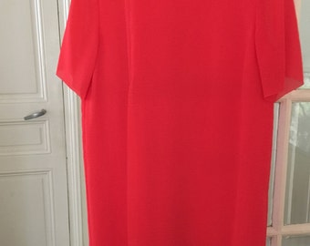 COS / minimalist red dress / size 36