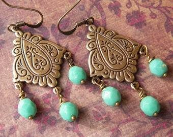 Gypsy earrings - Sundance style jewelry - Boho jewelry - Chandelier earrings - Gifts for Her