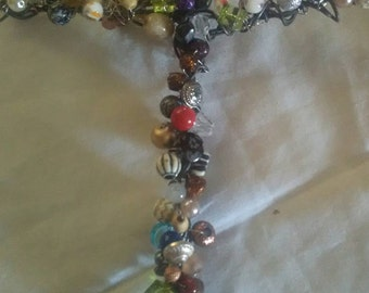 CROSS CRUCIFIX Wired Beaded Wall Hanging