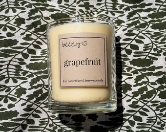 6 oz Natural Soy & Beeswax Essential Oil Candle
