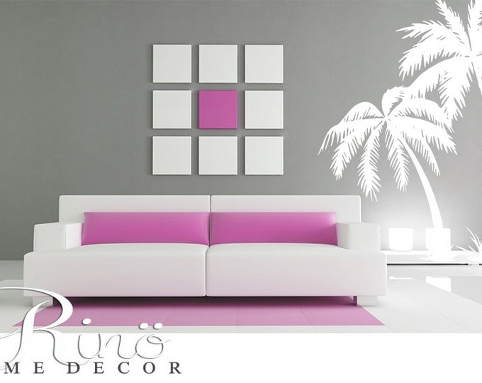 Palm Tree DECAL Wall art Palmtree vinyl Wall stickers No background large size coconut tree beach oasis south home decor livingroom bedroom