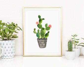 Succulent Printable Cactus Print Cactus Plant Succulent Plant Succulent Wall Art Southwest Decor Cactus Nursery Wall Art Succulent Nursery