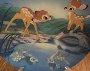 Disney 1991 Bambi Plate #1-Bashful Bambi