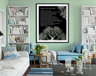 Deep In The Quiet Wood Wall Art - Nature Poem- Print - Poetry - Nature Lover