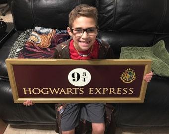 Harry Potter Hogwarts Express 9 3/4 SIGN ( LARGE ) Prop