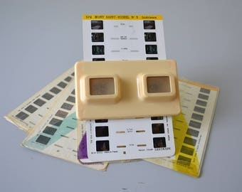 Vintage LESTRADE STEREOSCOPE / french slide viewer / 3D viewer memory 60s from France and Luxembourg