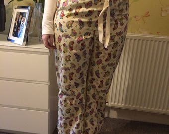 Tall ladies pyjama bottoms - Cream Beetle Cars.