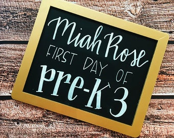 Custom Chalk Sign - Hand Lettered Chalk Board