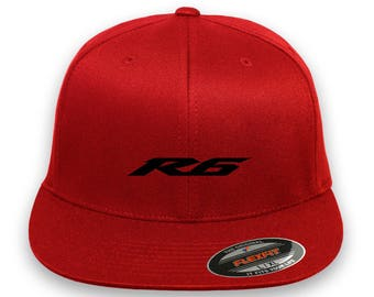R6 YAMAHA Flex Fit Hat **CURVED Bill**  ***Free Shipping in BOX***