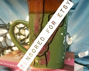 Green Penis Mug/ Hard Dick Coffeecup/ Orgasm Coffeemug/ Cumming Cock Cup/ Adult Coffee Mug/ Ejaculation Mug/ Big Hard Cock Mug/ Dirty Dishes