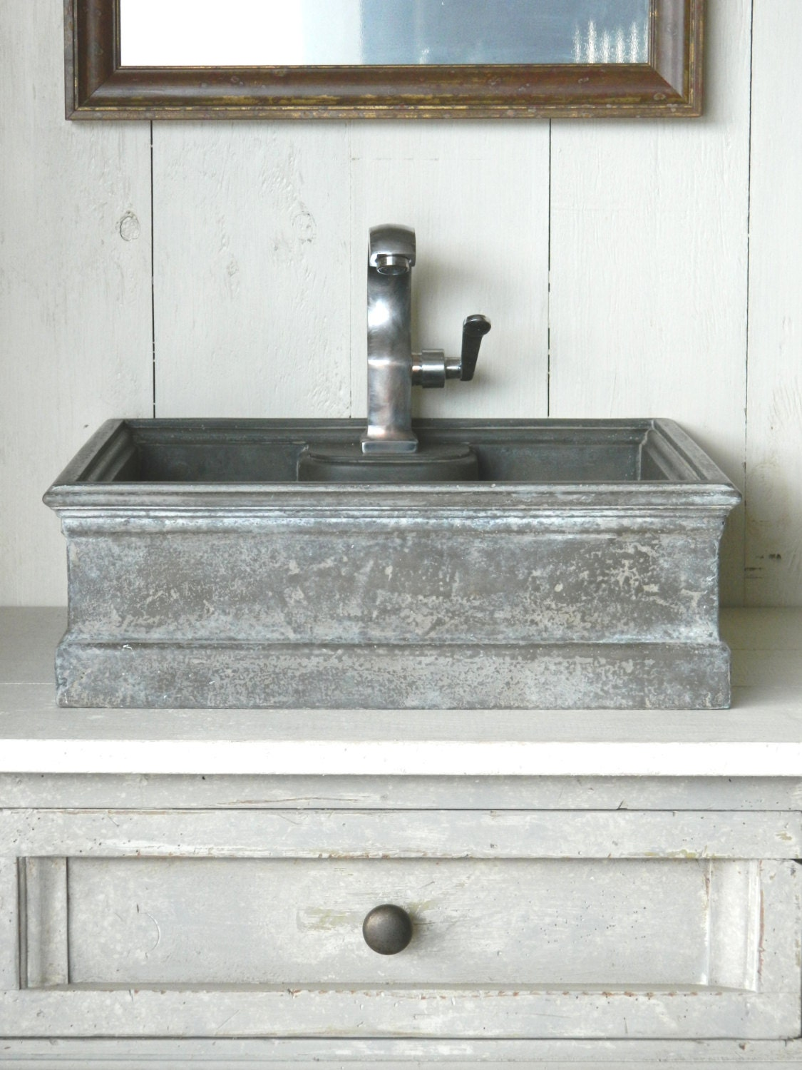 Vessel Sink Antique Zinc Style By Atmosphyre On Etsy