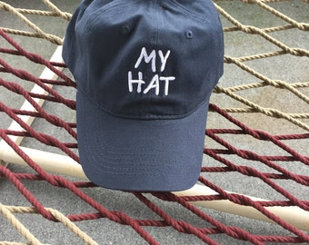 My Hat - Navy Blue Hat With White Lettering