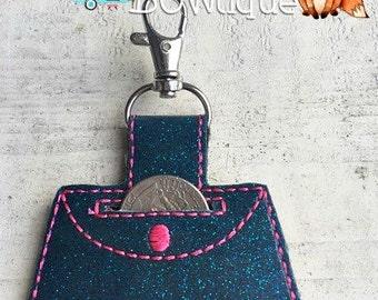 Purse quarter keeper keychain.