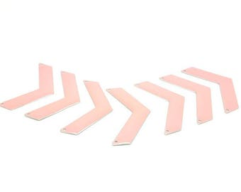 20 connectors Triangle Chevron 30x10mm pink