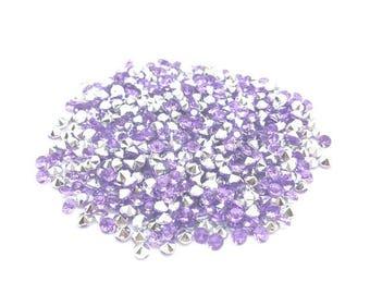 520 purple 4mm clear acrylic rhinestones