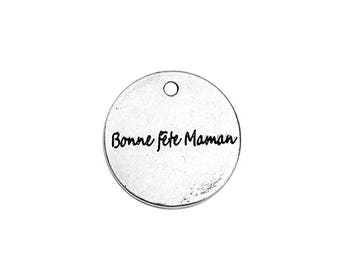 10 charms happy mother's day silver pole 20mm