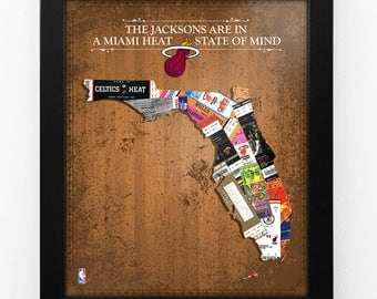 Personalized Miami Heat State of Mind Framed Print - Florida