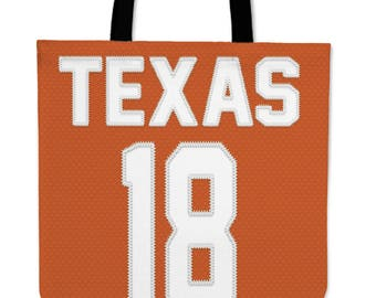 Texas Longhorns Jersey Tote Bag