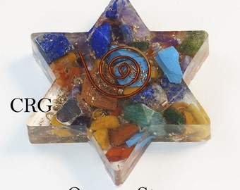 Flat STAR with 7-stones and Copper Mix (OR14DG)