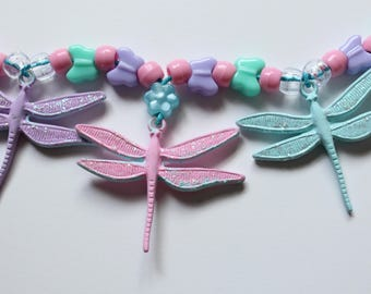 Sparkly Dragonfly Fairy Necklace