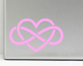 Polyamory Symbol Vinyl Decal \\ Polyamory Sticker \\ Car \\ Macbook \\ Ipad