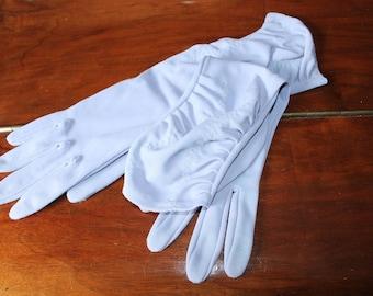 60s Pale Blue Formal Gloves Mid Length Evening