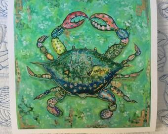 Crab Crazy Print