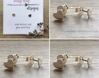 Personalised Sterling Silver Heart Earrings