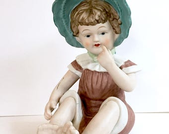Bisque Pianoe Baby Ornament- Decoration - Vanity