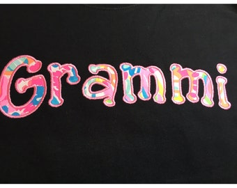 Personalized Tshirt, Mothers Day, Grammi, Nana Shirt, Grandma, Personalized Long Sleeve Tshirt